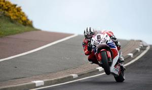 14/5/13 PACEMAKER PRESS INTL. Michael Dunlop on his Honda Legends bike during today's superbike practice session at the Vauxhall NW200. Picture Charles McQuillan/Pacemaker.