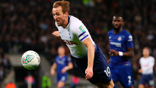 Up and over: Harry Kane is fouled by Kepa Arrizabalaga with a penalty later awarded via VAR
