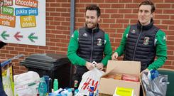 Glentoran, Cliftonville, Ballinamallard and Glenavon fans can all contribute to food collections on Saturday afternoon.