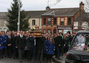 Requiem Mass is heald at St Malachy's Church, Castlewellan for 18 year old Ellen who died in a fire at her house in the Co. Down village.