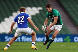 Ross Byrne, right, is another option at fly-half (Brian Lawless/PA)
