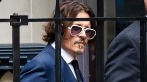 Actor Johnny Depp during a break in the hearing for his libel case against the publishers of The Sun and its executive editor Dan Wootton at the High Court in London (Aaron Chown/PA)