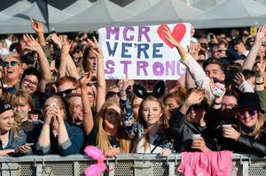 Ariana Grande's One Love Manchester tribute gig in aid of victims of the Manchester Arena terror attack. (Dave Hogan for One Love Manchester/Getty)