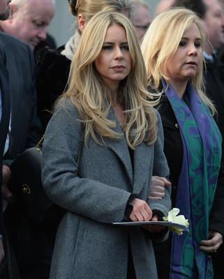 Pacemaker Press  14/1/2019 Wife Kerry  during the Funeral of Dr Ian Adamson at Clonlig Presbyterian Church on Monday. A politician, medical doctor and historian, Dr Adamson served as Lord Mayor of Belfast in 1996/7, high sheriff in 2011 and was an Assembly member for the constituency of East Belfast from 1998 to 2003.  Known for his passion for culture, he founded the Ulster-Scots Language Society in 1992 and also spoke a number of other languages, including Irish.  Pic Colm Lenaghan/ Pacemaker