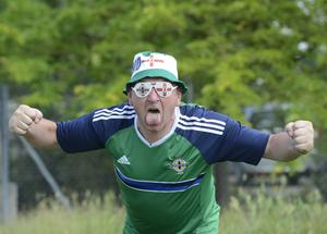 Northern Ireland Fan Ian Thompson  from Ballymena travel threw St Georges de Reneines  in a camper van, on the way to Nice as N Ireland face Poland in their opening match on Sunday. Pic Colm Lenaghan/Pacemaker