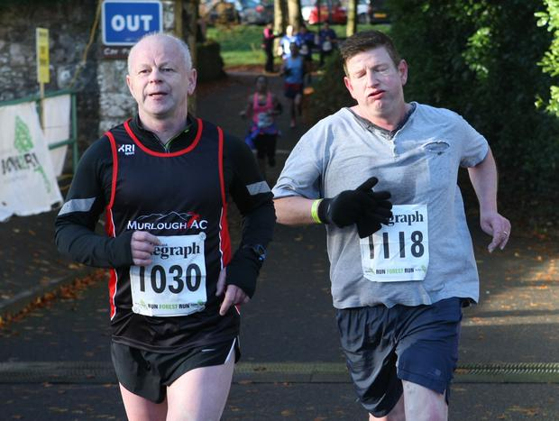 Mandatory Credit - Picture by Freddie Parkinson/Press Eye © Saturday 19th November 2016 Belfast Telegraph Run Forest Run Drum Manor Forest Park, Drum Road, Cookstown BT80 9RT Joe McMahon and Nicholas Boyle