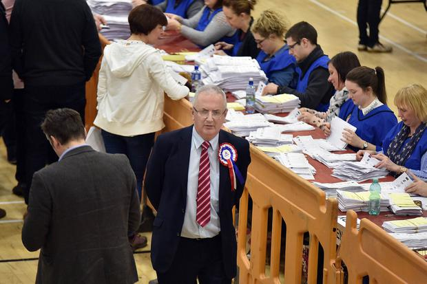Press Eye - Belfast - Northern Ireland - 3 March 2017 - NI Assembly Election 2017 Count at Banbridge Leisure Centre for Newry & Armagh and Upper Bann constituencies. Danny Kennedy (UUP Newry/Armagh) pictured at the count. Photo by Tony Hendron / Press Eye.