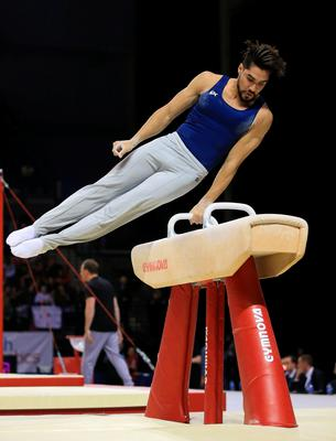 Louis Smith MBE on the pommel horse during the Artistic Gymnastics British Championships 2016 at the Echo Arena, Liverpool. PRESS ASSOCIATION Photo. Picture date: Saturday April 9, 2016. See PA story GYMNASTICS Liverpool. Photo credit should read: Nigel French/PA Wire. RESTRICTIONS: EDITORIAL USE ONLY, NO COMMERCIAL USE WITHOUT PRIOR PERMISSION, PLEASE CONTACT PA IMAGES FOR FURTHER INFO: Tel: +44 (0) 115 8447447.