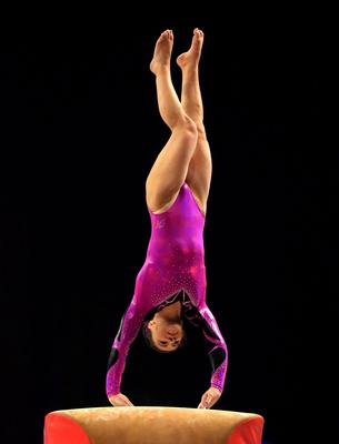 Claudia Fragapane on the vault during the Artistic Gymnastics British Championships 2016 at the Echo Arena, Liverpool. PRESS ASSOCIATION Photo. Picture date: Saturday April 9, 2016. See PA story GYMNASTICS Liverpool. Photo credit should read: Nigel French/PA Wire. RESTRICTIONS: EDITORIAL USE ONLY, NO COMMERCIAL USE WITHOUT PRIOR PERMISSION, PLEASE CONTACT PA IMAGES FOR FURTHER INFO: Tel: +44 (0) 115 8447447.