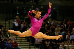 Claudia Fragapane on the floor exercise during the Artistic Gymnastics British Championships 2016 at the Echo Arena, Liverpool. PRESS ASSOCIATION Photo. Picture date: Saturday April 9, 2016. See PA story GYMNASTICS Liverpool. Photo credit should read: Nigel French/PA Wire. RESTRICTIONS: EDITORIAL USE ONLY, NO COMMERCIAL USE WITHOUT PRIOR PERMISSION, PLEASE CONTACT PA IMAGES FOR FURTHER INFO: Tel: +44 (0) 115 8447447.