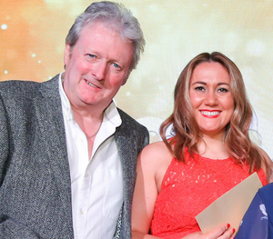 Embarrassing moment: Cate Conway with Charlie Lawson