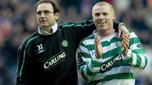 Bit of previous: Martin O'Neill and Neil Lennon at Celtic
