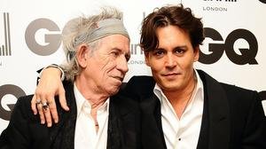 Keith Richards with Johnny Depp (Ian West/PA)