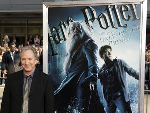2009: Alan Rickman arrives at the New York premier of Harry Potter and the Half-Blood Prince in New York. AFP PHOTO / DON EMMERTDON EMMERT/AFP/Getty Images