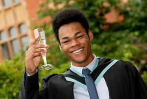 Hensley Blenman is celebrating graduation success at Queens University Belfast as he graduated with a degree in Health and Leisure Studies from Stranmillis University College