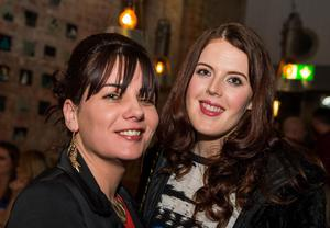 At the National Bar in Belfast: Pictured are Nuala McCarron and Aisling Quinn