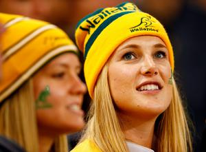 CARDIFF, WALES - SEPTEMBER 23:  Australia fans look on prior to the 2015 Rugby World Cup Pool A match between Australia and Fiji at the Millennium Stadium on September 23, 2015 in Cardiff, United Kingdom.  (Photo by Laurence Griffiths/Getty Images)