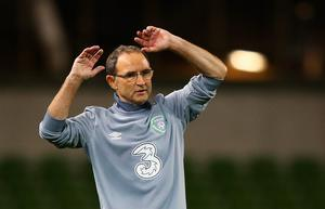 DUBLIN, IRELAND - SEPTEMBER 07:  Martin O'Neill manager of the Republic of Ireland reacts during the UEFA EURO 2016 Group D qualifying match between Republic of Ireland and Georgia at Aviva Stadium on September 7, 2015 in Dublin, Ireland.  (Photo by Ian Walton/Getty Images)