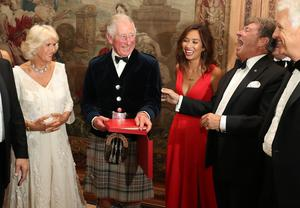 The Prince of Wales and Duchess of Cornwall with presenters Myleene Klass and Alan Titchmarsh at Classic FM's 25th anniversary recital in 2017 (Andrew Milligan/PA)