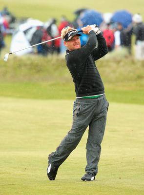 NEWCASTLE, NORTHERN IRELAND - MAY 29:  Soren Kjeldsen of Denmark hits his 2nd shot on the 18th hole during the Second Round of the Dubai Duty Free Irish Open Hosted by the Rory Foundation at Royal County Down Golf Club on May 29, 2015 in Newcastle, Northern Ireland.  (Photo by Andrew Redington/Getty Images)