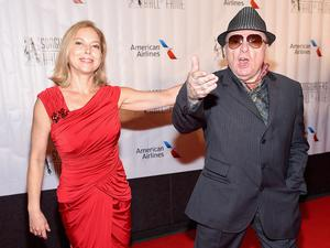 Singer-songwriter Shana Morrison with her father Sir Van Morrison.
