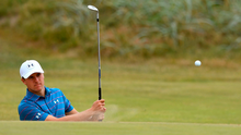 On course: Jordan Spieth during practice at Royal Birkdale yesterday. Photo: Ben Stansall/Getty Images
