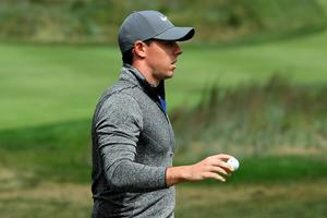 NORTON, MA - SEPTEMBER 05:  Rory McIlroy of Northern Ireland acknowledges the crowd on the 17th green during the final round of the Deutsche Bank Championship at TPC Boston on September 5, 2016 in Norton, Massachusetts.  (Photo by David Cannon/Getty Images)