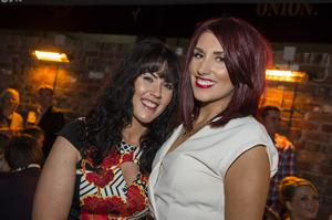 The dirty onion beer garden pictured Laura Blair and Nicola Payne