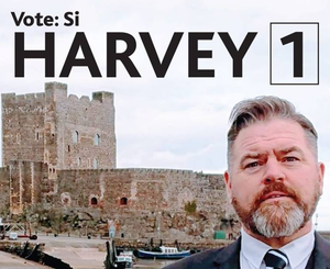 Antrim council candidate Si Harvey