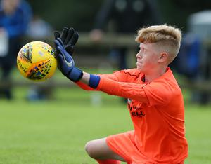 PressEye-Northern Ireland- 29th July  2019-Picture by Brian Little/PressEye Dungannon United  goal keeper Harry Rainey  in the Minor section of the STATSports SuperCupNI , at University, Coleraine. Picture by Brian Little/PressEye