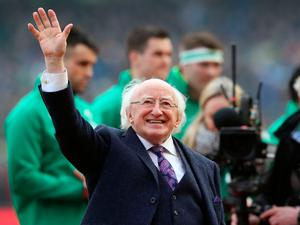 President of Ireland Michael D. Higgins before the NatWest 6 Nations match at the Aviva Stadium, Dublin. PRESS ASSOCIATION Photo. Picture date: Saturday February 10, 2018. See PA story RUGBYU Ireland. Photo credit should read: Brian Lawless/PA Wire. RESTRICTIONS APPLY: Editorial use only. No commercial or promotional use without prior consent from IRFU. No alterations or doctoring.