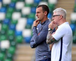 Coleraine boss Oran Kearney has challenged his side to follow the example of his assistant manager Winkie Murphy (right).