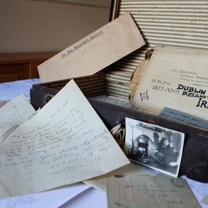 Some of the letters from the Great War which was among material relating to the Dixon family of Dublin which has been discovered in a suitcase by the Belfast Charitable Society at Clifton House (Brian Lawless/PA)