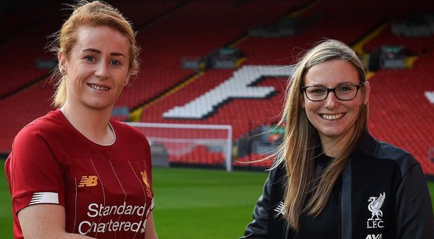 Northern Ireland international Rachel Furness is welcomed to Liverpool by manager Vicky Jepson.