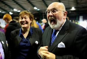 Senator David Norris arrives at the RDS as counting of votes in the referendums on same-sex marriage and presidential-age get under way at the RDS in Dublin.Brian Lawless/PA Wire