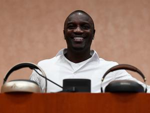 LAS VEGAS, NV - JANUARY 04:  Recording artist and Royole Chief Creative Officer Akon speaks during a press event for CES 2017 at the Mandalay Bay Convention Center on January 4, 2017 in Las Vegas, Nevada. CES, the world's largest annual consumer technology trade show, runs from January 5-8 and is expected to feature 3,800 exhibitors showing off their latest products and services to more than 165,000 attendees.  (Photo by Ethan Miller/Getty Images)