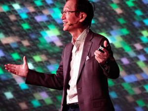 Jonney Shih, chairman of Taiwan tech group ASUS, speaks on the eve of 2017 Consumer  Electronics Show (CES) in Las Vegas, Nevada, on January 4, 2017. / AFP PHOTO / DAVID MCNEWDAVID MCNEW/AFP/Getty Images