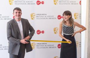 Normal People stars Paul Mescal and Daisy Edgar-Jones took social distancing measures into their own hands at the Bafta TV awards in July. The hit show was BBC iPlayer's most popular series of 2020 after it was streamed more than 62 million times (Dominic Lipinski/PA)