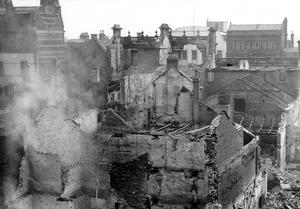WORLD WAR II: BELFAST AIR RAIDS. SUGARHOUSE ENTRY. April/May 1941. Where the United Irishmen used to meet under the leadership of Henry Joy McCracken in the days of '98. AR 161.