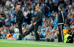 Manchester City manager Pep Guardiola during the Champions League match at the Etihad Stadium, Manchester. PRESS ASSOCIATION Photo. Picture date:  Wednesday September 14, 2016. See PA story SOCCER Man City. Photo credit should read: Martin Rickett/PA Wire