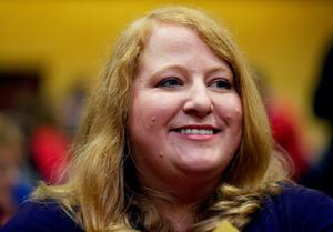 Alliance Party's deputy leader Naomi Long is elected new leader of the party at a special meeting of the party council in the Park Avenue Hotel, Belfast. PA