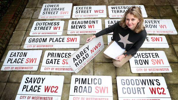 A street sign from London's Abbey Road has sold for more than £37,000 at auction (Gareth Fuller/PA)