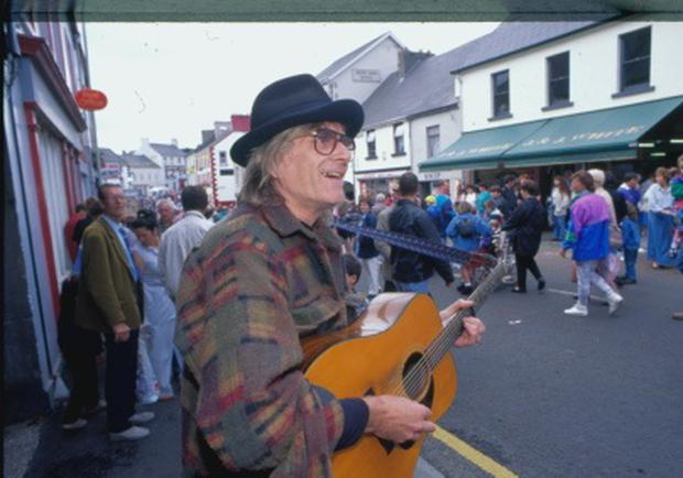 Henry McCullough ex wings guitarist. At Aul Lamas Fair.