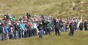Photographer ?Matt Mackey - Presseye.com  28th May 2015  Round 1 of the 2015 Dubai Duty Free Irish Open at Royal County Down Golf Club, Newcastle, Northern Ireland.  Graeme McDowell.