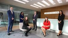 Colm McElroy, partner, Samantha Moore and Lauren Young, associates, Stuart Mansfield, who heads the banking and finance team, Laura Feeney and Lucy McKee, associates