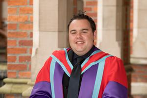 Gary Mitchell, a PhD student from the School of Nursing and Midwifery at Queen's University Belfast, has received the First Trust Bank Queen's Student of the Year Award
