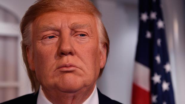 A new wax figure of US President-elect Donald Trump is viewed a day after it was launched at Madame Tussauds in Washington,DC on January 19, 2017.  With one day to go before he takes the oath of office as the 45th US president, Donald Trump arrives in Washington Thursday determined to transform US politics over the next four years. / AFP PHOTO / TIMOTHY A. CLARYTIMOTHY A. CLARY/AFP/Getty Images