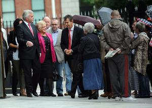 Pacemaker Press 22/8/2013  DUP councillor Ruth Patterson  leaves Laganside Court in Belfast , charged with sending an electronic message that was grossly offensive.  It related to a Facebook comment  about an imaginary attack on a republican parade in Castlederg.  Pic Colm Lenaghan/Pacemaker