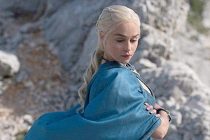 Demure: Emilia Clarke reprises her role of Mother of Dragons in Game of Thrones Season 4