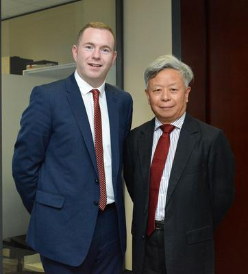 Minister Chris Hazzard meets with President Jin of Asian Infrastructure Investment Bank